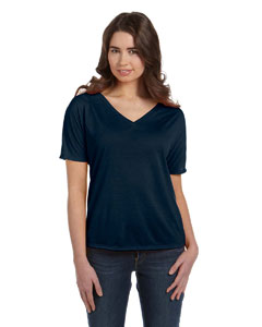 Midnight Women's' Flowy Simple V-Neck T-Shirt