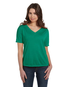 Kelly Women's' Flowy Simple V-Neck T-Shirt
