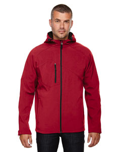 Molten Red 751 Men's Prospect Two-Layer Fleece Bonded Soft Shell Hooded Jacket