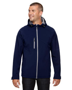 Classic Navy 849 Men's Prospect Two-Layer Fleece Bonded Soft Shell Hooded Jacket