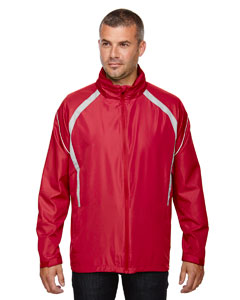 Olympic Red 665 Men's Sirius Lightweight Jacket with Embossed Print