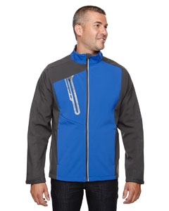 Nauticl Blue 413 Men's Terrain Colorblock Soft Shell with Embossed Print