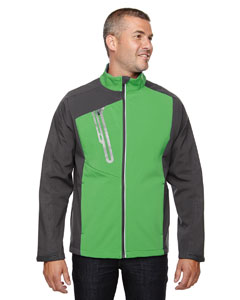 Valley Green 448 Men's Terrain Colorblock Soft Shell with Embossed Print