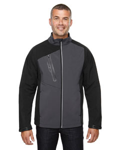 Blksilk 866 Men's Terrain Colorblock Soft Shell with Embossed Print