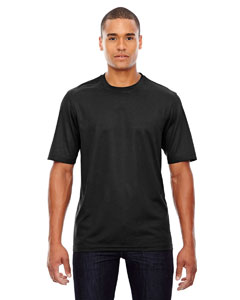 Black 703 Men's Pace Performance Piqué Crew Neck