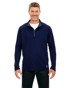Classic Navy 849 Men's Radar Half-Zip Performance Long-Sleeve Top