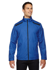 Nauticl Blue 413 Men's Tempo Lightweight Recycled Polyester Jacket with Embossed Print