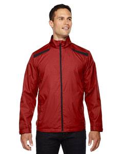 Classic Red 850 Men's Tempo Lightweight Recycled Polyester Jacket with Embossed Print