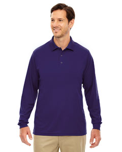 Campus Prple 427 Men's Pinnacle Performance Long-Sleeve Piqué Polo