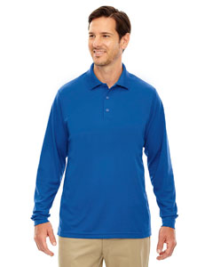 True Royal 438 Men's Pinnacle Performance Long-Sleeve Piqué Polo