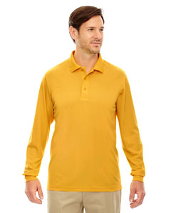 Campus Gold 444 Men's Pinnacle Performance Long-Sleeve Piqué Polo