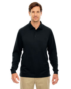 Black 703 Men's Tall Pinnacle Performance Long-Sleeve Piqué Polo