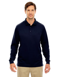 Classic Navy 849 Men's Tall Pinnacle Performance Long-Sleeve Piqué Polo