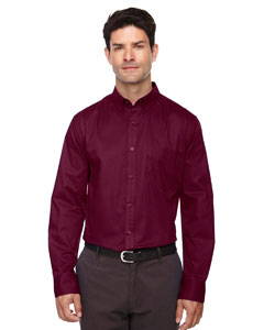 Burgundy 060 Men's Operate Long-Sleeve Twill Shirt