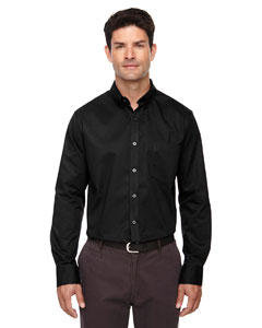 Black 703 Men's Operate Long-Sleeve Twill Shirt