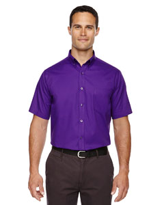 Campus Prple 427 Men's Optimum Short-Sleeve Twill Shirt