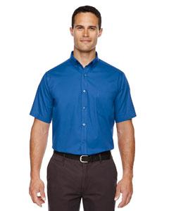 True Royal 438 Men's Optimum Short-Sleeve Twill Shirt