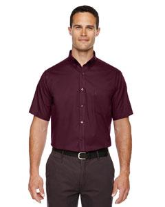 Burgundy 060 Men's Optimum Short-Sleeve Twill Shirt