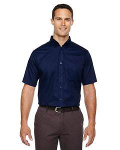 Classic Navy 849 Men's Tall Optimum Short-Sleeve Twill Shirt