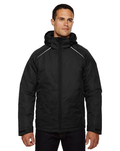 Black 703 Men's Linear Insulated Jacket with Print