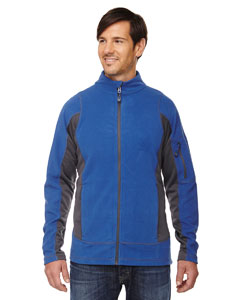 Nauticl Blue 413 Men's Generate Textured Fleece Jacket