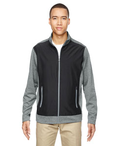 Black 703 Men's Victory Hybrid Performance Fleece Jacket