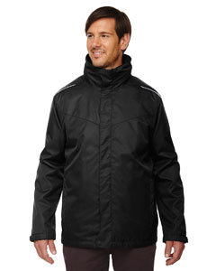 Black 703 Men's Region 3-in-1 Jacket with Fleece Liner