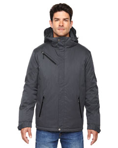 Carbon 456 Men's Rivet Textured Twill Insulated Jacket