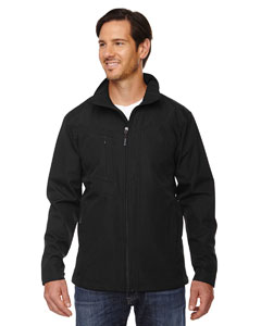 Black 703 Men's Forecast Three-Layer Light Bonded Travel Soft Shell Jacket