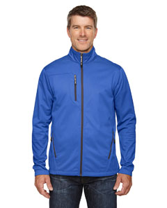 Nauticl Blue 413 Men's Trace Printed Fleece Jacket