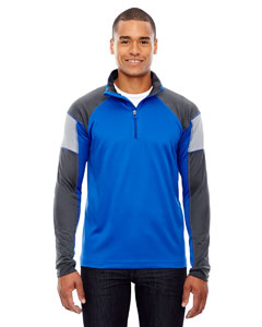 True Royal 438 Men's Quick Performance Interlock Half-Zip Top