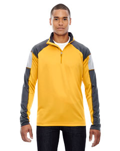 Campus Gold 444 Men's Quick Performance Interlock Half-Zip Top