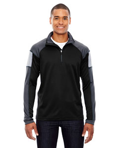 Black 703 Men's Quick Performance Interlock Half-Zip Top