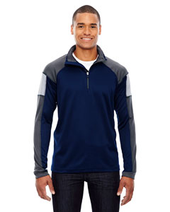 Classic Navy 849 Men's Quick Performance Interlock Half-Zip Top