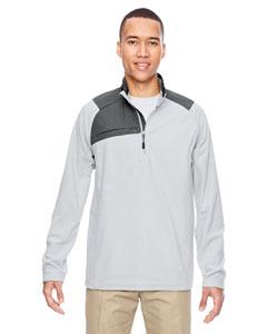 Silver 674 Men's Excursion Trail Fabric-Block Fleece Half-Zip