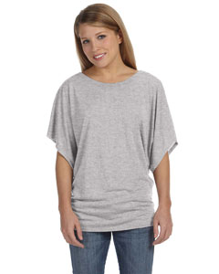 Athletic Heather Women's Flowy Draped Sleeve Dolman T-Shirt
