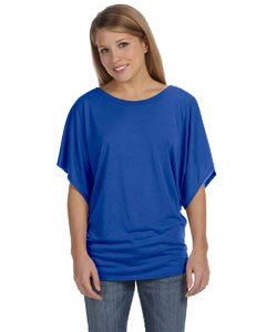 True Royal Women's Flowy Draped Sleeve Dolman T-Shirt