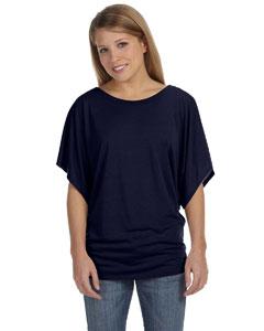 Midnight Women's Flowy Draped Sleeve Dolman T-Shirt