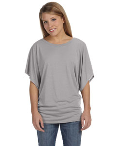 White Marble Women's Flowy Draped Sleeve Dolman T-Shirt