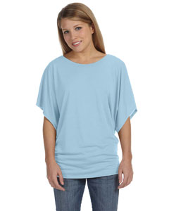 Blue Marble Women's Flowy Draped Sleeve Dolman T-Shirt