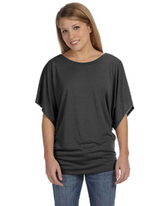 Charcoal Marble Women's Flowy Draped Sleeve Dolman T-Shirt