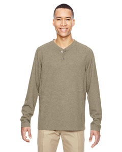 Stone 019 Men's Excursion Nomad Performance Waffle Henley