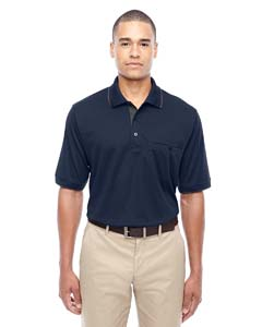 Cl Nvy/ Crbn 849 Men's Motive Performance Pique Polo with Tipped Collar