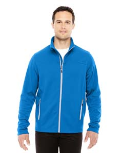 Nau Blu/ Plt 413 Men's Torrent Interactive Textured Performance Fleece Jacket