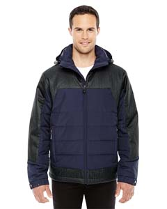 Nvy/ Dkgr Ht 007 Men's Excursion Meridian Insulated Jacket with Melange Print