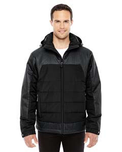 Blk/ Dkgr Ht 703 Men's Excursion Meridian Insulated Jacket with Melange Print
