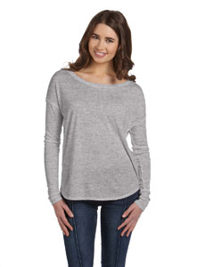 Athletic Heather Women's Flowy Long-Sleeve T-Shirt with 2x1 Sleeves