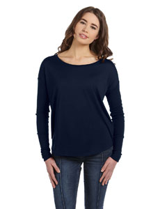 Midnight Women's Flowy Long-Sleeve T-Shirt with 2x1 Sleeves