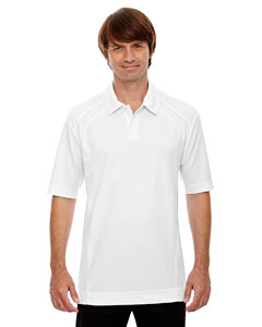 White 701 Men's Recycled Polyester Performance Piqué Polo