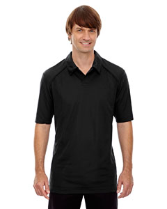 Black 703 Men's Recycled Polyester Performance Piqué Polo